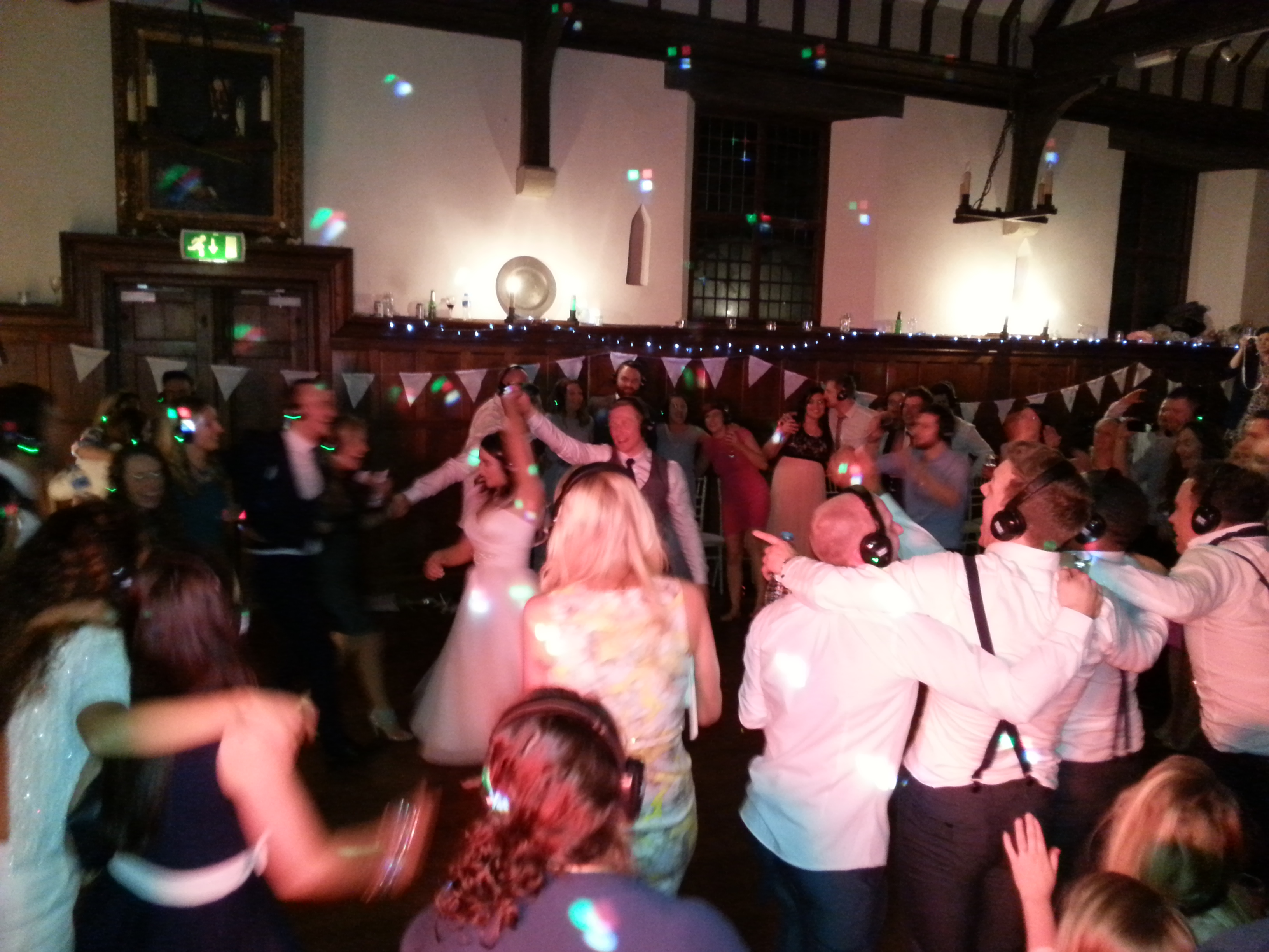 Silent Disco at Birling Manor in East Sussex