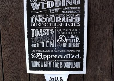 Wedding Rules