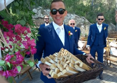 Scott Mills at Chris Stark's Wedding in Barcelona
